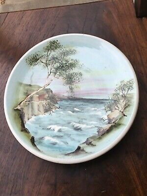 Vintage Australian Pottery Guy Boyd Signed Lanscape Plate Clinton Queensland