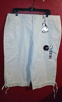 Women's Gloria Vanderbilt Stretch Size 18 Capri Pants New with Tags