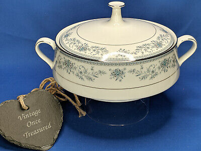 Noritake BLUE HILL 2482 * Round Covered Vegetable Serving Dish Tureen * VGC