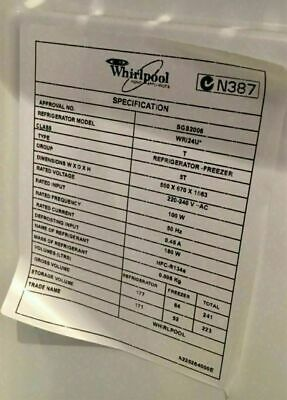 Whirlpool fridge control module- FAULTY FOR PARTS DC