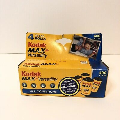 Kodak Max Versatility 400 Film 4-24 Exposures Color 35mm Film EXPIRED 2007
