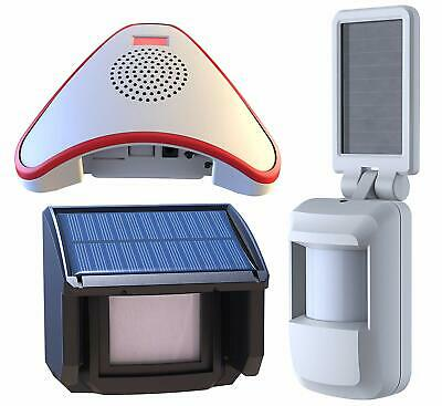 Solar Powered Wireless Driveway Alarm System with Outdoor/Indoor Motion Sensor