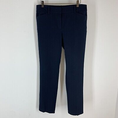 Ann Taylor Women's navy blue pants signature fit size 8 straight