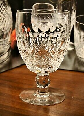 """Waterford COLLEEN Short Stem WATER GOBLETS 602/137 5 1/4"""" TOP QUALITY Signed"""