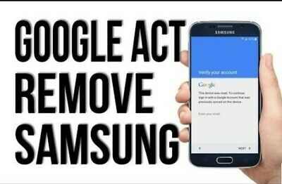 Google Account Removal FRP Bypass Service for Samsung Galaxy Note 9 Note 8 s9 s8