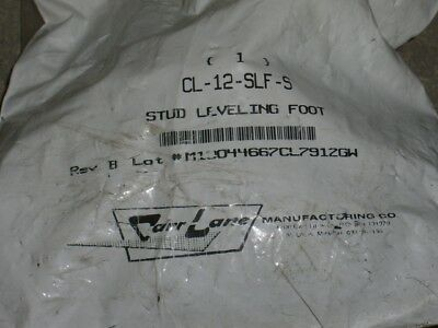 """new CARR-LANE CL-12-SLF-S Stud Leveling Foot support rests 3"""" Diameter"""