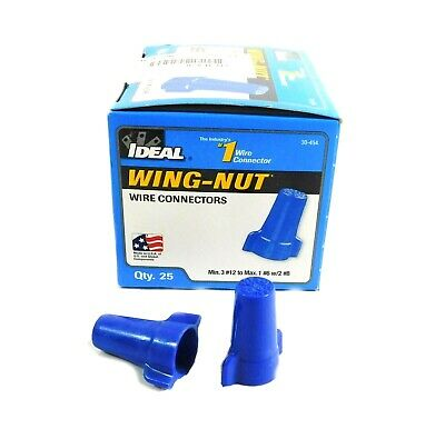 Ideal Twist on Wing-Nut Wire Connectors 14-6 AWG 30-454 (Pack of 25)