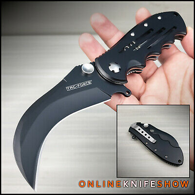 TAC FORCE TACTICAL SPRING KARAMBIT FOLDING BLADE Assisted Opening Hawkbill Knife