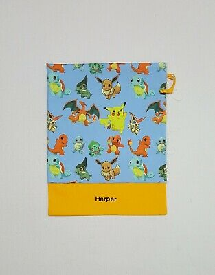$Free Embroidery Name Pokemon All Over Blue Personalised Library Bag Fd