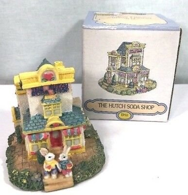 The Bunny Family Village The Hutch Soda Shop Figurine EH11 Bunny Easter Spring