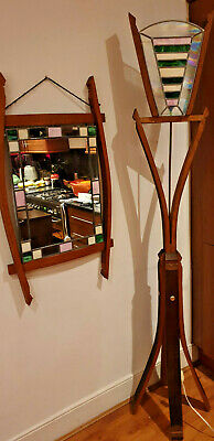 Art Deco/Arts & Crafts Large Standard Lamp with Matching Mirror