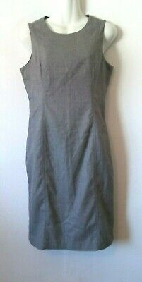 Women's Calvin Klein Gray Tweed Sleeveless Lined Dress With Back Slit Size 2