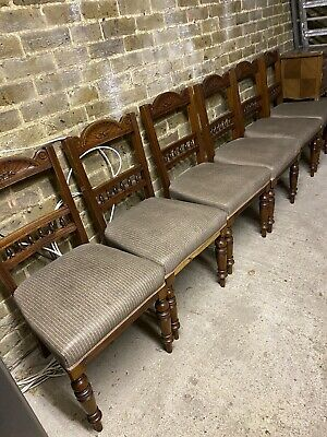 Set of 6 arts And crafts dining chairs Circa 1900