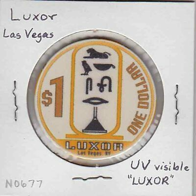 Vintage $1 chip from the Luxor Casino (1993) Las Vegas…LUXOR overprint