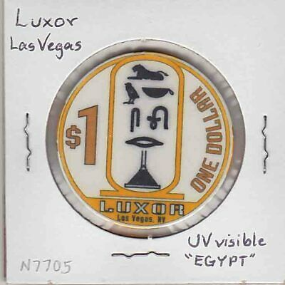 Vintage $1 chip from the Luxor Casino (1993) Las Vegas…EGYPT overprint