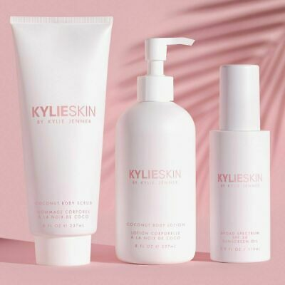 Kylie Skin Summer Body Scrub, Lotion and Sunscreen Oil Bundle NEW