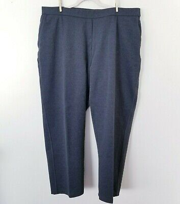 Avenue Womens 22/24 Gray Pull On Plus Size Stretch Knit Pants