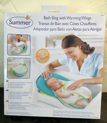 New in Box Summer Bath Sling with Warming Wings