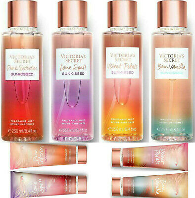 Victorias Secret Fragrance Body Mist Lotion Sunkissed Scents Perfume 250ml Bare