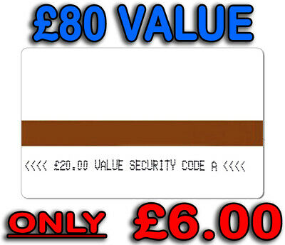 AMPY Electric Meter Cards Token Credit £80 Value £6.00 - Security Code A