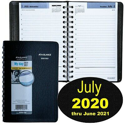 At-A-Glance DayMinder AY44 July 2020 thru June 2021 Daily Appointment Book