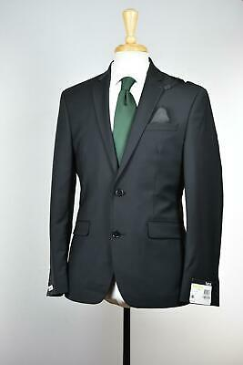 Bar Iii Men's Black Slim Fit Wool Blend Stretch Suit 38 S $600 Ttay1Czz0001 New