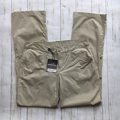 Eddie Bauer Womens Size 4 Stone Khaki Travex Stretch Collection Pants New NWT