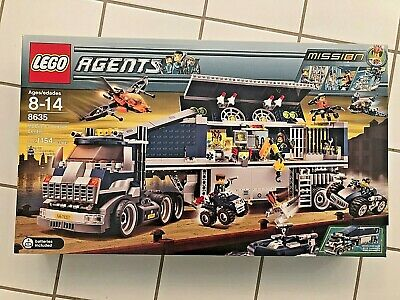ref 8635 MISSON 6 Mobile Command Center Mur LEGO AGENTS Clear panel 59349