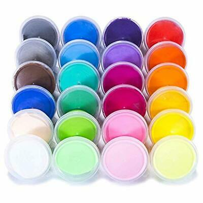 Kids Moulding Clay Set Modelling Doh Tubs Air Dry Non Toxic 24 Colours Creative