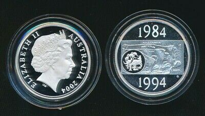 2004 Silver Proof $1 Coin Dollar Decade 1984-1994 out Masterpieces Set
