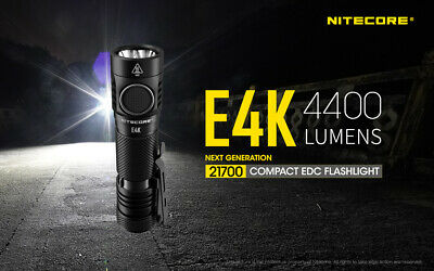 Nitecore E4K 21700 NL2150HPR USB rechargeable battery 4400 lumens 211 Meter