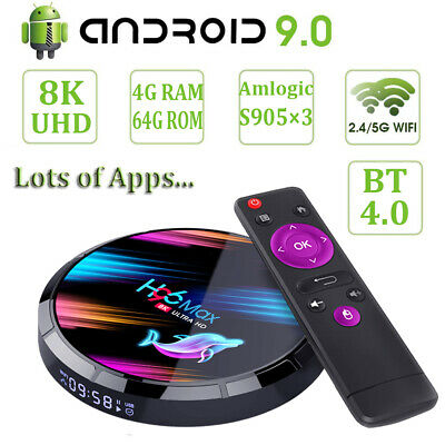 H96 MAX X3 8K 4+64G Android 9.0 Pie 5G WIFI BT TV BOX Amlogic HDMI2.1 3D Movies