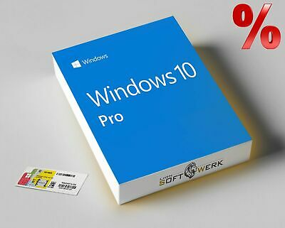 Microsoft Windows 10 Professional Vollversion 32/64-bit OEM Lizenz COA-Key