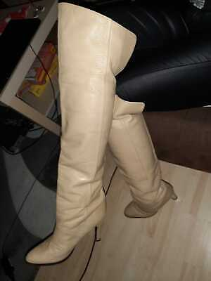 OVERKNEE LEDER STIEFEL Italy weich GR.37,5,70th80th style