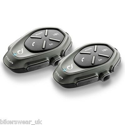 Interphone Tour Twin Pack Bluetooth,quality music get GPS Directions 1.5KM