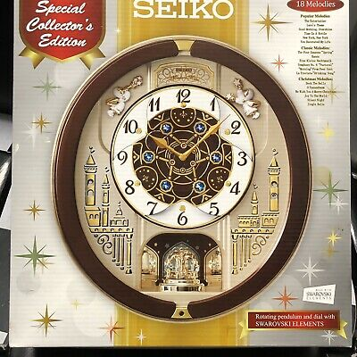 Seiko QXM491BRH Special Edition Motion Clock with 18 Melodies, Slightly Used