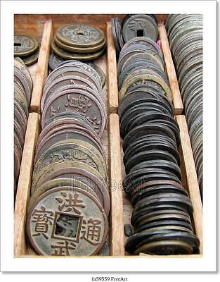Old Coins Art/Canvas Print. Poster, Wall Art, Home Decor