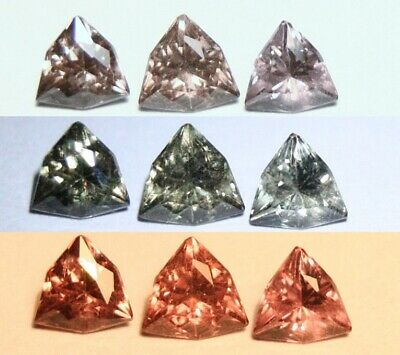 1.11ct Colour Change Garnet 3pc Lot - Trillion Trio - Tanzania AAA