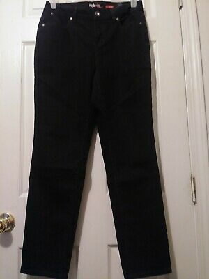 Style & Co Women's Curvy Fit Bootcut Jeans Size 6 Black Mid Rise Stretch