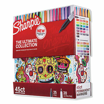 Sharpie Permanent Markers Ultimate Collection Assorted Tips Assorted Colors