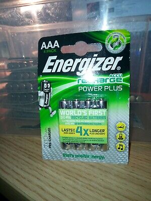 4 x Energizer AAA 700 mAh Rechargeable Batteries Universal NiMH HR03 Pre Charged