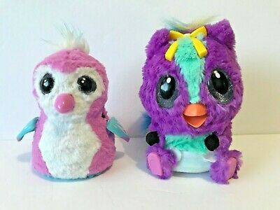 HATCHIMALS HatchiBabies Cheetree Penguala Interactive Toy Tested Works Lot of 2