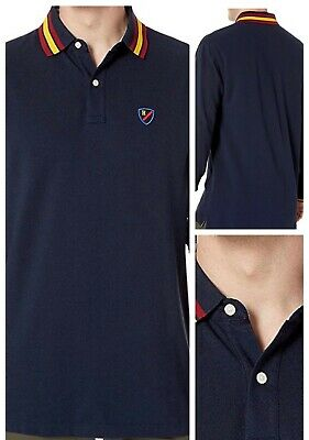 Tommy Hilfiger Long Sleeve Polo Mens Classic Fit Shirt Navy Blue Size Small NEW