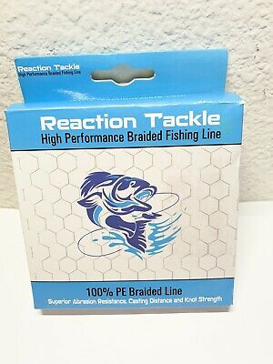 BRAND NEW Reaction Tackle High Performance Braided Fishing Line Moss Green