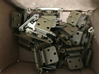 "Lot of 20  Antique Brass 3/8"" Inset Cabinet Hinges Hardware"