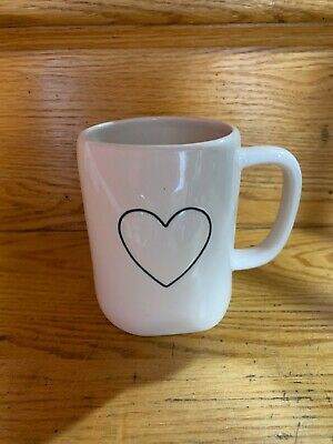 Rae Dunn~Black HEART Mug~Valentine's Day Gift~Brand New!