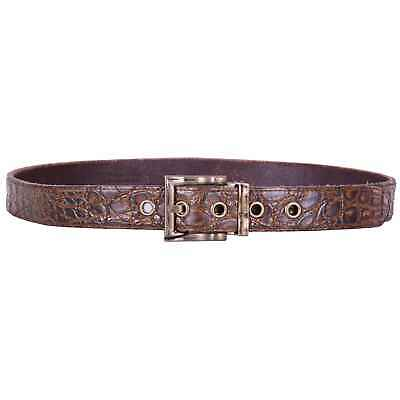 Dolce & Gabbana Belt Made of Kaimane Crocodile Leather Braun 07420