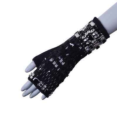 Dolce & Gabbana Cashmere Gloves With Crystals For Dress Black 05970