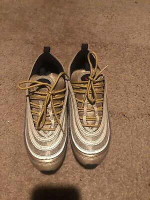 NIKE AIR MAX 97 GOLD QS OG RARE 884421 700 Men Running Shoes