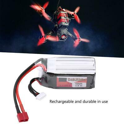 ZOP POWER 1500mAh 14.8V 45C T Plug Rechargeable LiPo Battery forRC Car/Airplane